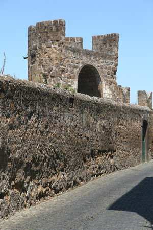 tuscania: Tower and city wall of Tuscania, Italy