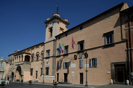 administrative buildings: City Hall, Tarquinia, Italy Stock Photo