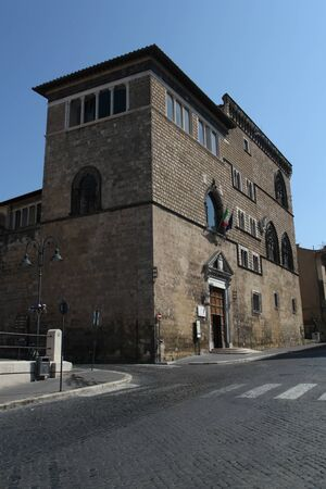 archeological: Palazzo Vitelleschi holds the Archeological Museum of Tarquinia, Italy Editorial