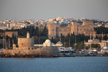rhodes: Fortress of St Nicholas and The Palace of the Grand Master, Rhodes Town, Rhodes, Greece