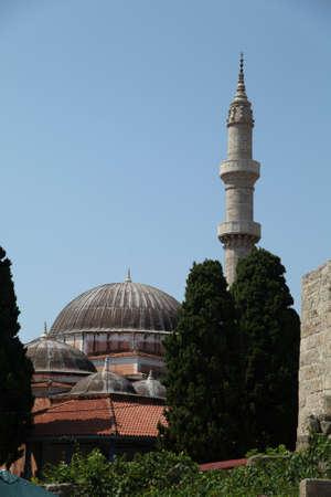 rhodes: Mosque of Suleyman, Rhodes Town, Rhodes, Greece Stock Photo