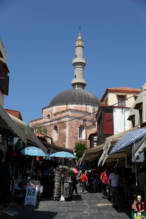 suleyman: Mosque of Suleyman, Rhodes Town, Rhodes, Greece Editorial