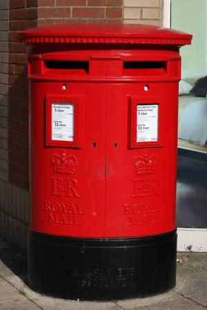 royals: Double post box, Braintree, Essex