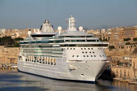 seas: Cruise ship MS Brilliance of the Seas moored in Grand Harbour, Valletta, Malta