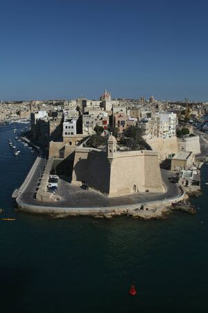 fortifications: Fortifications of Senglea, Grand Harbour, Valletta, Malta
