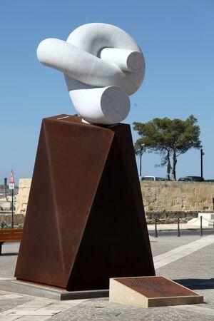 castille: Modern sculpture, Castille Square, Valletta, Malta Editorial