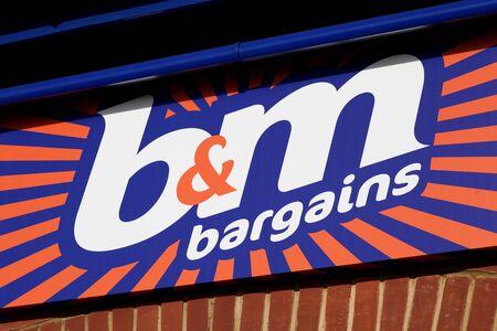 general store: B & M shop sign, Braintree, Essex