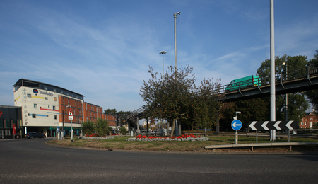 roundabout: Army & Navy flyover and roundabout, Chelmsford, Essex