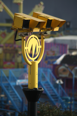 average: Average speed cameras overlooking Western Esplanade, Southend on Sea, Essex