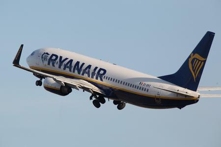 Ryanair, Boeing 737, EI-DPZ, departs London Stansted Airport, Essex