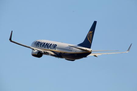 Ryanair, Boeing 737, EI-FID, departs London Stansted Airport, Essex Editorial