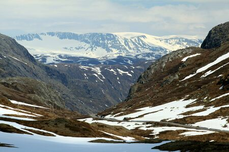 jotunheimen national park: Jotunheimen National Park seen from the Sognefjellet Tourist Road, Norway Stock Photo