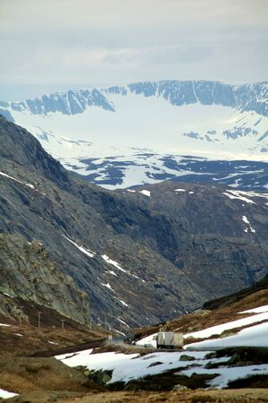 Jotunheimen National Park seen from the Sognefjellet Tourist Road, Norway Stock Photo