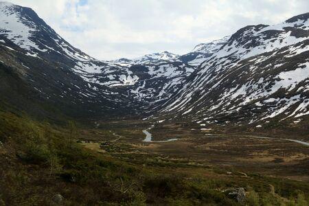 Jotunheimen National Park seen from Sognefjellet Tourist Road, near Skjolden, Norway