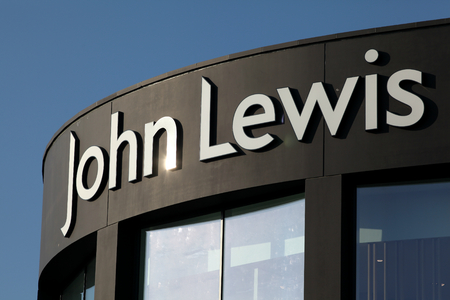 John Lewis store shop sign, Bond Street shopping development, Chelmsford, Essex