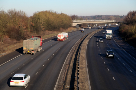 M11 motorway, near Great Hallingbury, Stansted, Essex, England