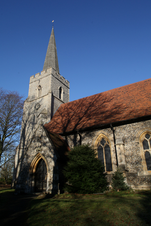 St Giles parish church, Great Hallingbury, near Stansted Essex