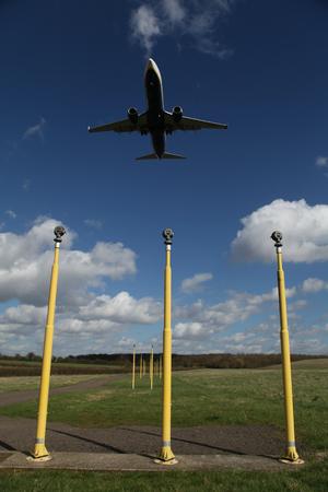 London Stansted Airport, Essex, 21 March 2017 - Ryanair, 737, EI-DCF, landing