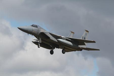 Lakenheath, Suffolk, England, 25 Apr 2017 - USAF F15 jet based at RAF Lakenheath