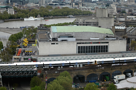 southbank: London, England, 22 April 2017 - Royal Festival Hall, Southbank of River Thames