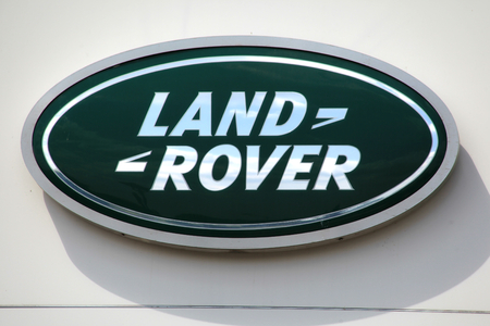 Chelmsford, Essex - 26 June 2017, Land Rover car dealership sign Editorial