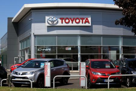 Chelmsford, Essex - 26 June 2017, Toyota car dealership