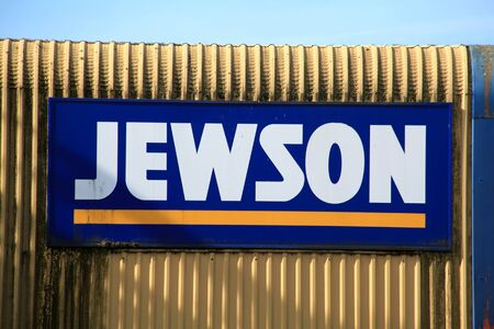 Chelmsford, Essex - 26 June 2017, Jewson builders merchant sign in Dukes Park industrial area