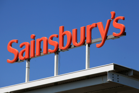 Chelmsford, Essex - 26 June 2017, Sainsburys sign above petrol station
