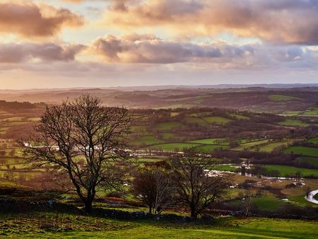 The Teifi River And Valley Near Llandewi Brefi Wales