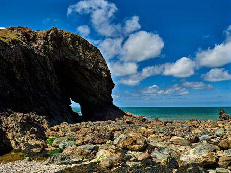 Arch at Ynys-y-Fydlyn Island Anglesey Wales