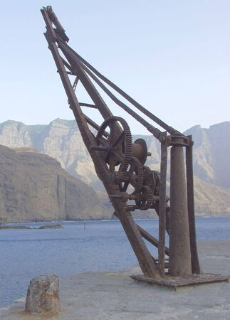 old crane for boats photo