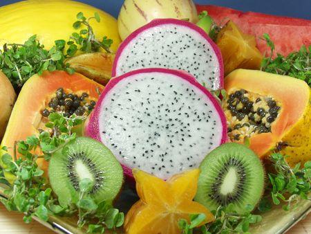 frutas asi�ticas tropicales y ex�ticas Foto de archivo - 517115