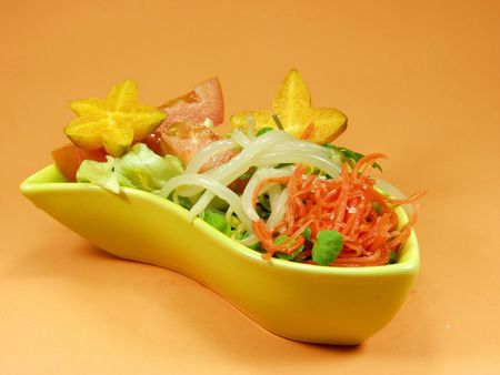 Salad whit tropical fruit and vegetables Stock Photo - 517093