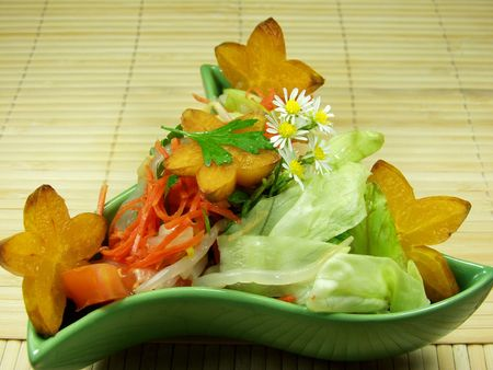 fruit and vegetables tropical and exotic salad Stock Photo - 517084