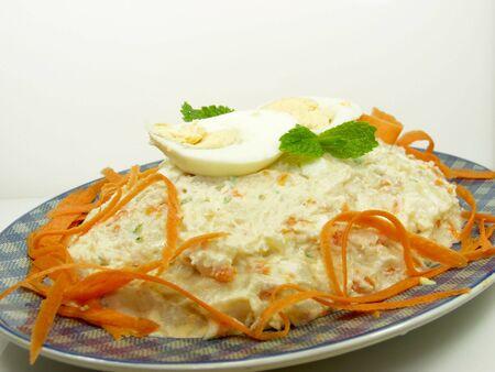 fresh potato salad whit egg and carrod Stock Photo - 539554