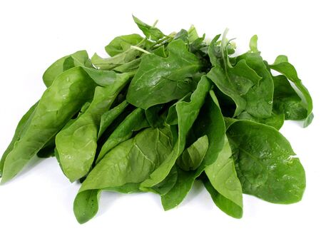 fresh  green spinach isolated on white background