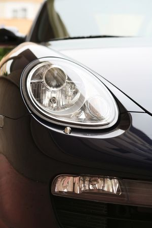 head lights of a sport black car Stock Photo - 817456