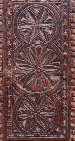 ornated: Ornated legno antico casella fatta a mano con decorazione  Archivio Fotografico