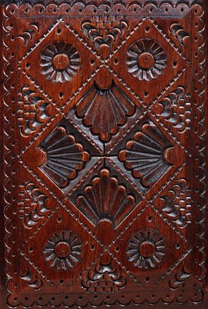 ornated: Wooden ornated antique box hand made decoration