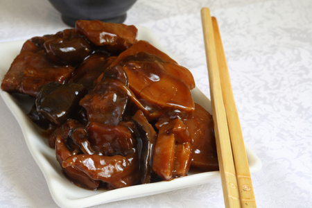soja: Stir-fried beef with Black Mushrooms and Bamboo Shoots