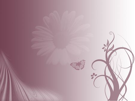 buttefly background with flower on violet colors photo