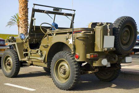 seconda guerra mondiale: ben conservati vecchia jeep militare dalla seconda guerra mondiale  Archivio Fotografico