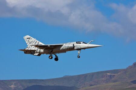 dassault mirage f1 airplane on blue sky day