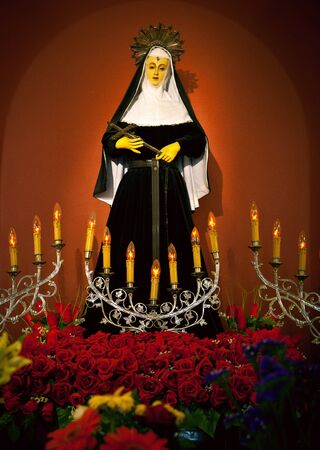 homily: a statue of important saint in spain