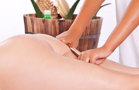 professional masseuse making a aloe treatment massage in the back Stock Photo - 10796829