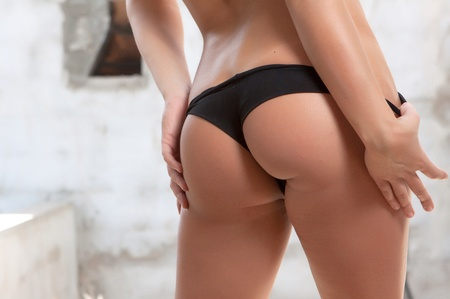 woman back with black lingerie Stock Photo - 11036983