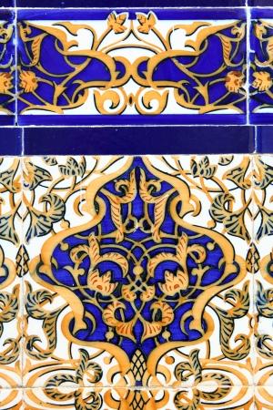 artistic flower: Vintage tiles from ancient Portuguese culture