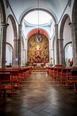 interior of a christian church in gran canaria island