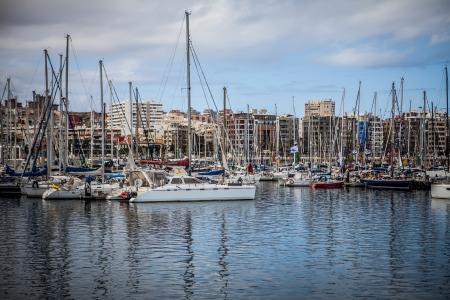 annual event: LAS PALMAS DE GRAN CANARIA - Barcos de vela atracado 17NOVEMBER preparado para ARC, Race Atl�ntico para Cruisier, evento anual de cruzar el Oc�ano Atl�ntico, el 25 de noviembre de 2012 en Las Palmas de Gran Canaria, Espa�a