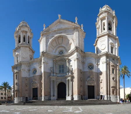 cadiz: A panoramic view of the old catolyc cathedral in Cadiz